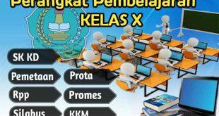 perangkat pembelajaran kelas x, perangkat pembelajaran kelas 10, silabus, promes kelas x, rpp kelas x, prota kelas x