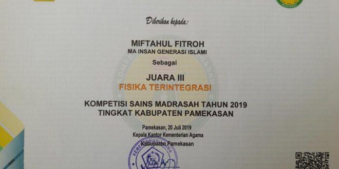juara 3 ksm fisika 2019
